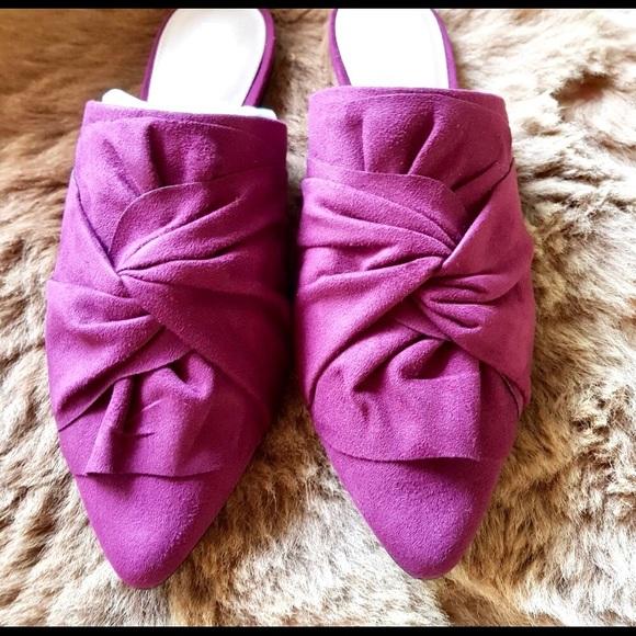 MIA Shoes - MIA Cranberry Suede Slides NWB Perfect🍇